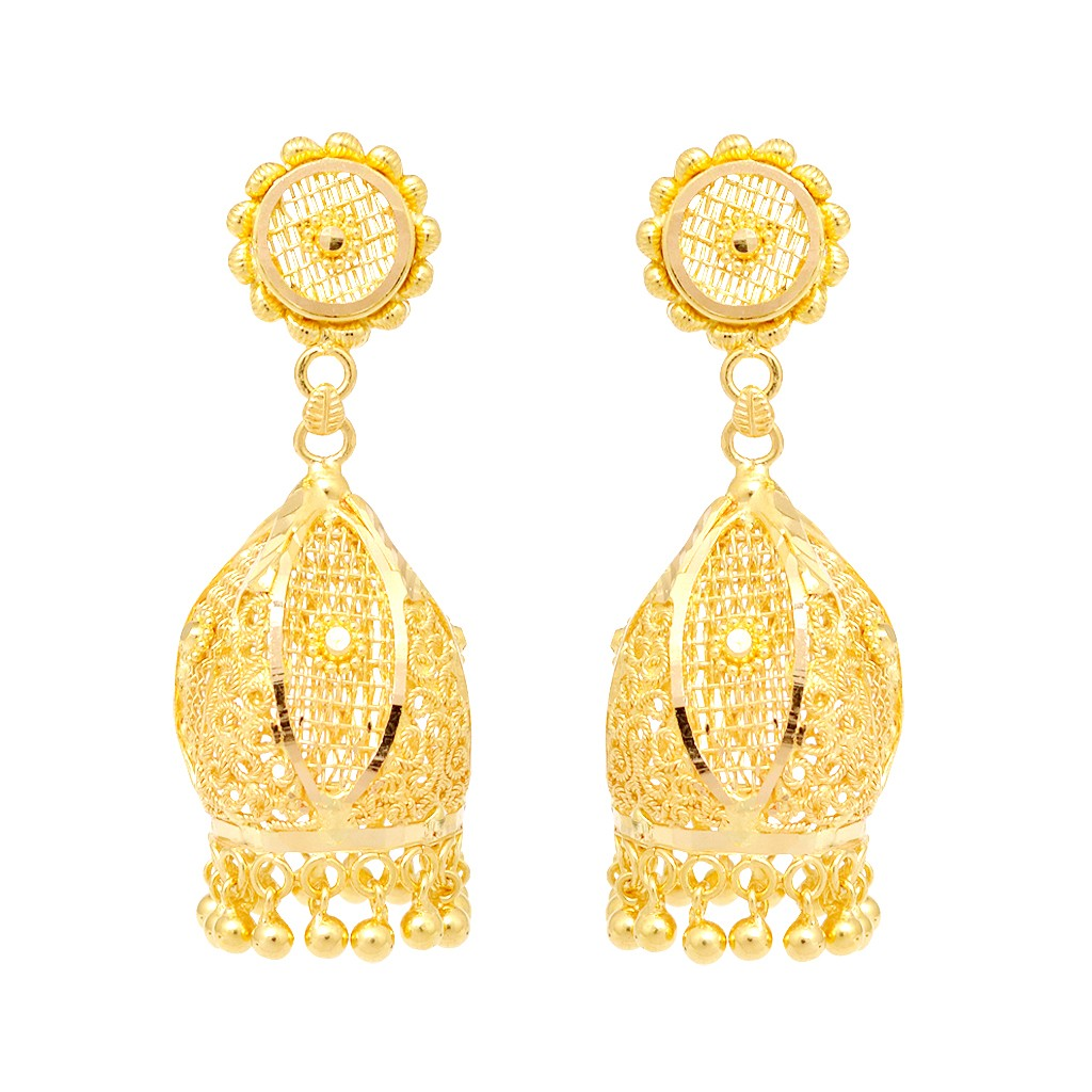 Buy 1700 Womens Gold Earring Designs Online in India